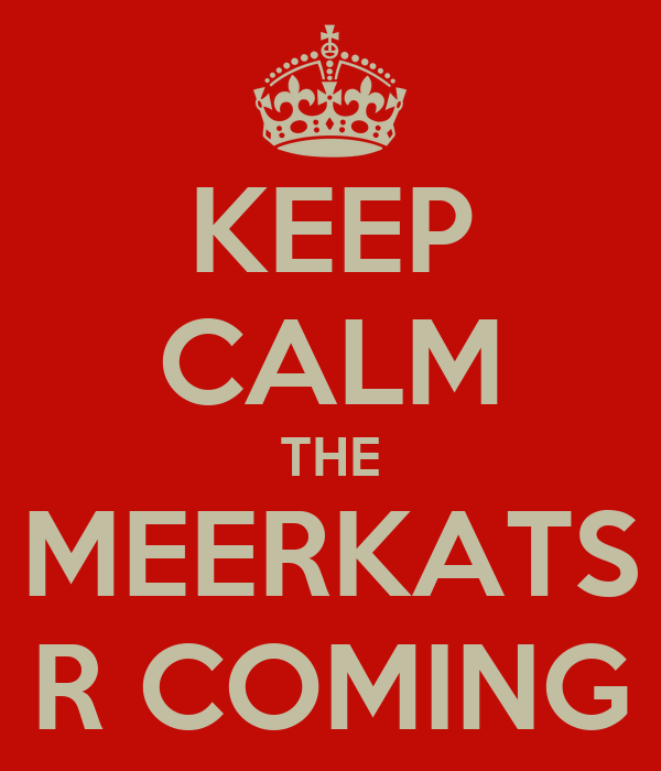 KEEP CALM THE MEERKATS R COMING