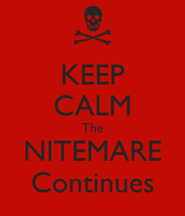 KEEP CALM The NITEMARE Continues