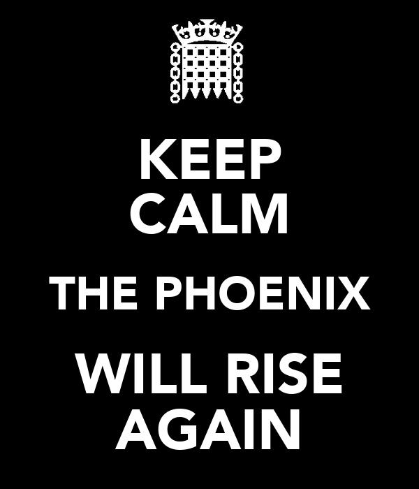 KEEP CALM THE PHOENIX WILL RISE AGAIN