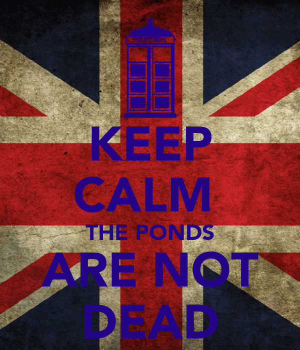 KEEP CALM  THE PONDS ARE NOT DEAD