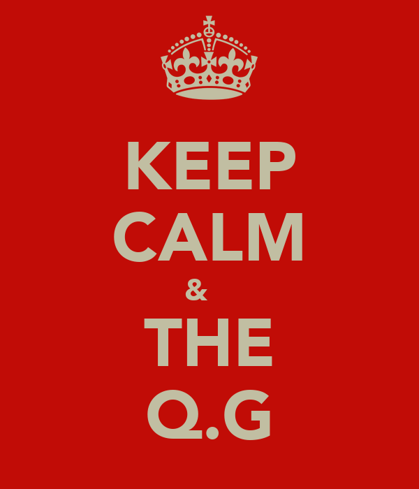 KEEP CALM &  ♡ THE Q.G