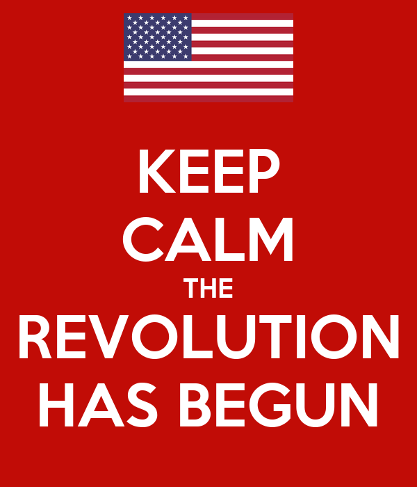 KEEP CALM THE REVOLUTION HAS BEGUN