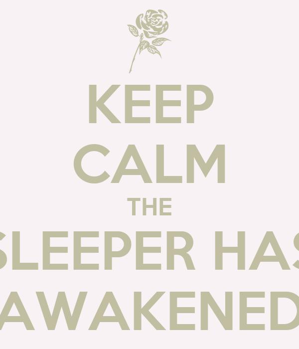 KEEP CALM THE SLEEPER HAS AWAKENED