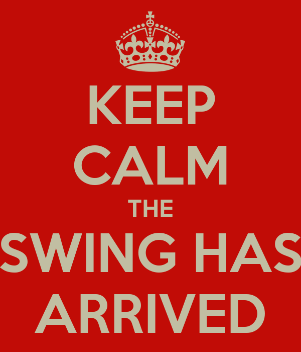 KEEP CALM THE SWING HAS ARRIVED