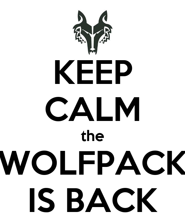 KEEP CALM the WOLFPACK IS BACK