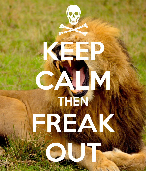 KEEP CALM THEN FREAK OUT