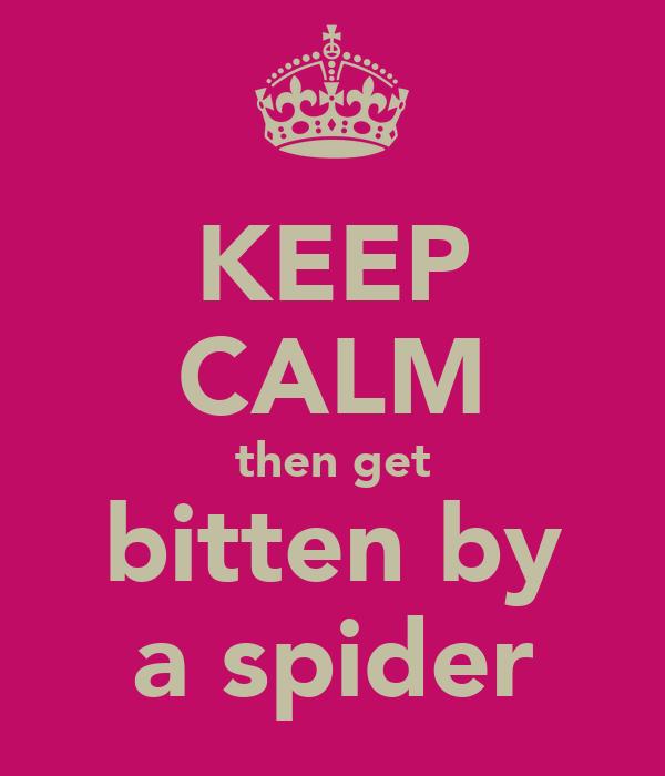 KEEP CALM then get bitten by a spider