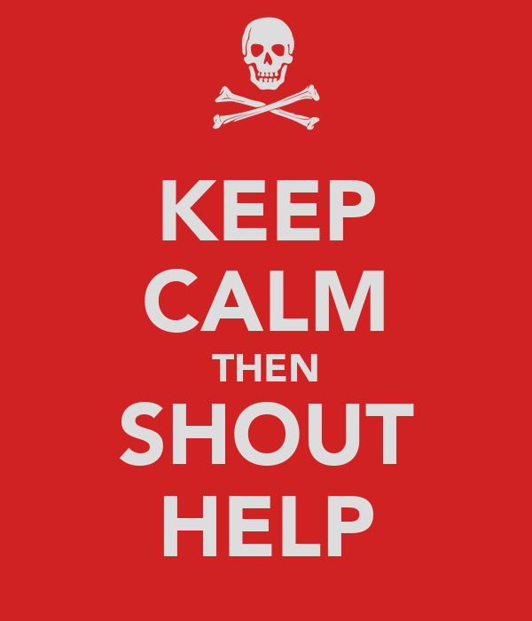 KEEP CALM THEN SHOUT HELP