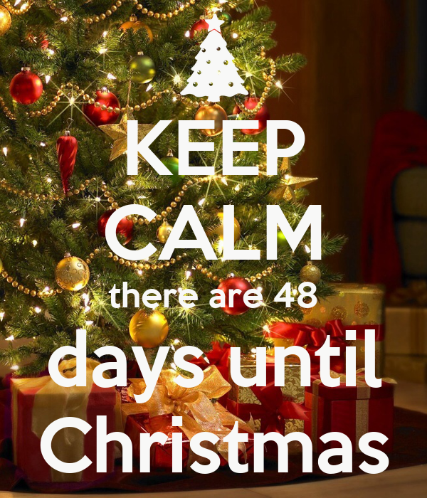 KEEP CALM there are 48 days until Christmas