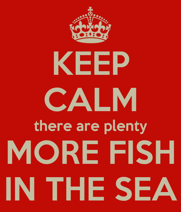 Keep calm there are plenty more fish in the sea poster for More fish in the sea