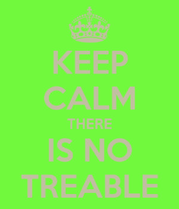 KEEP CALM THERE IS NO TREABLE