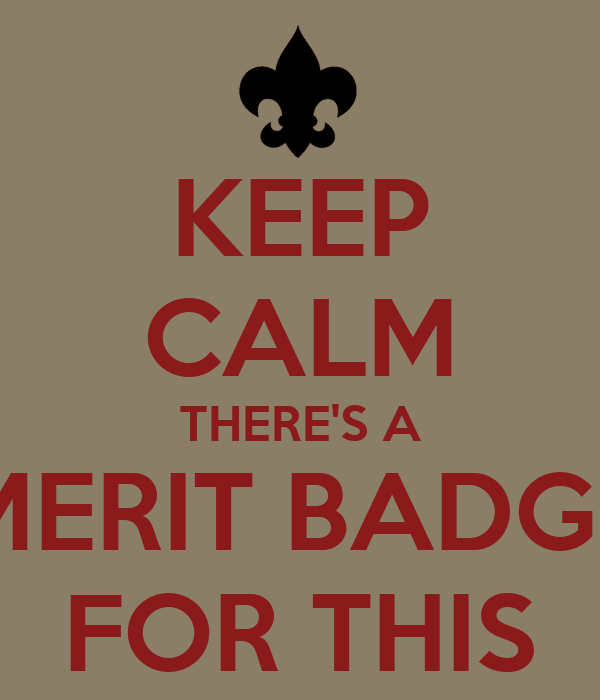KEEP CALM THERE'S A MERIT BADGE FOR THIS
