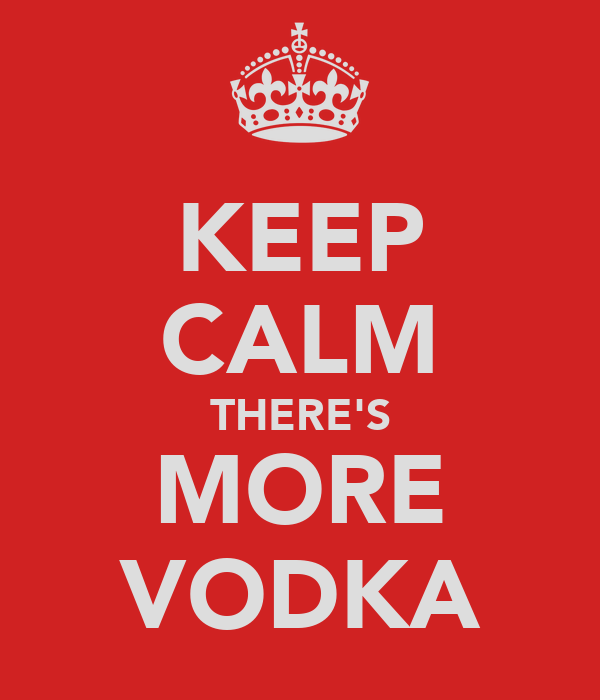 KEEP CALM THERE'S MORE VODKA
