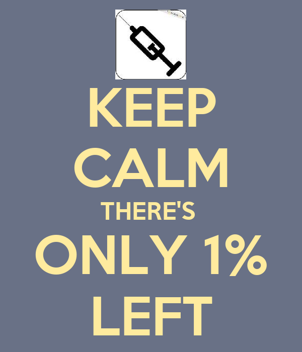 KEEP CALM THERE'S  ONLY 1% LEFT