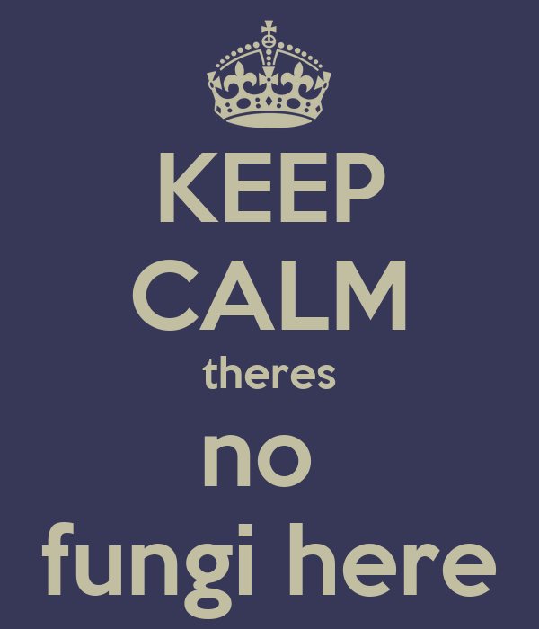 KEEP CALM theres no  fungi here