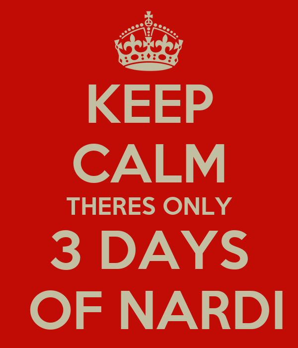 KEEP CALM THERES ONLY 3 DAYS  OF NARDI