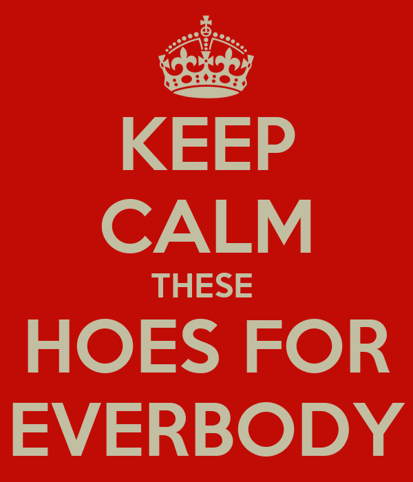 KEEP CALM THESE  HOES FOR EVERBODY