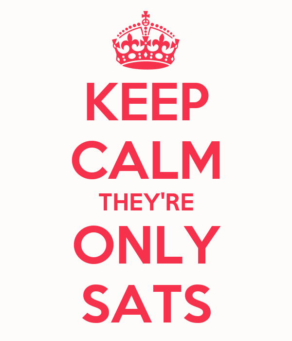 KEEP CALM THEY'RE ONLY SATS