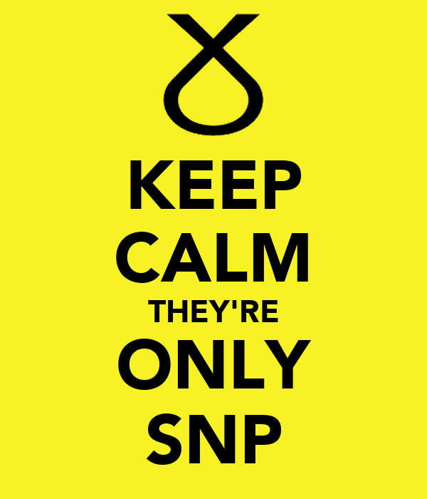 KEEP CALM THEY'RE ONLY SNP