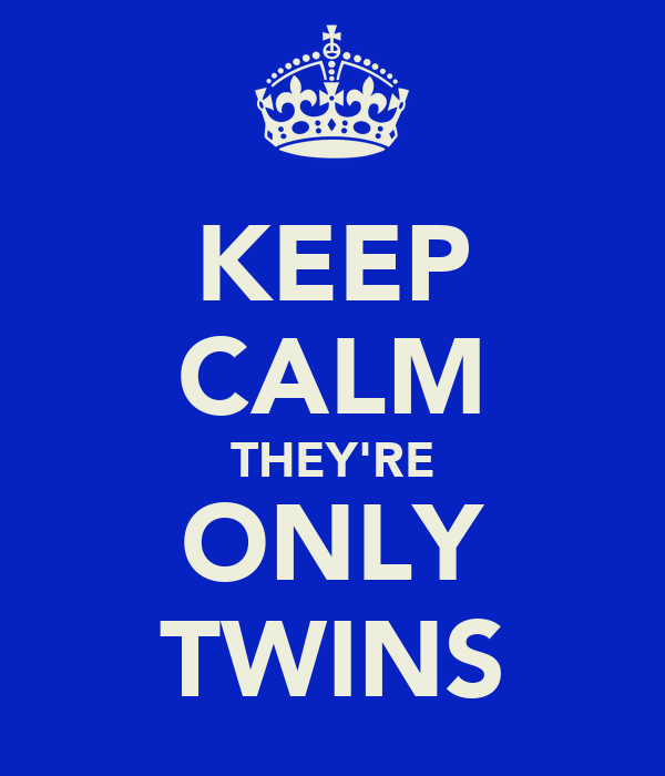KEEP CALM THEY'RE ONLY TWINS
