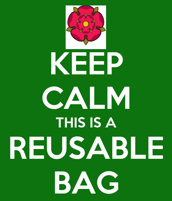 KEEP CALM THIS IS A REUSABLE BAG