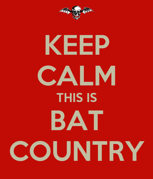 KEEP CALM THIS IS BAT COUNTRY