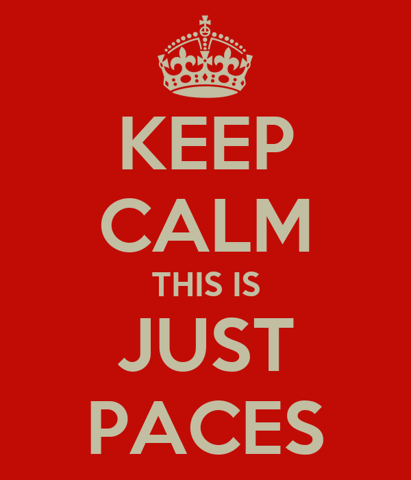 KEEP CALM THIS IS JUST PACES