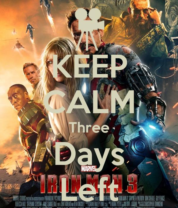 KEEP CALM Three Days Left