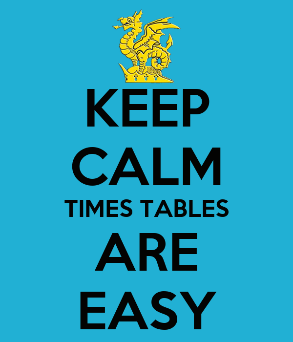 KEEP CALM TIMES TABLES ARE EASY
