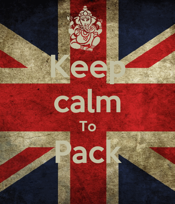 Keep calm To Pack