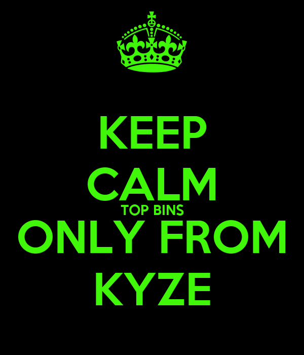 KEEP CALM TOP BINS ONLY FROM KYZE