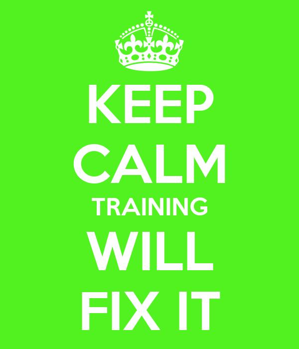 KEEP CALM TRAINING  WILL  FIX IT