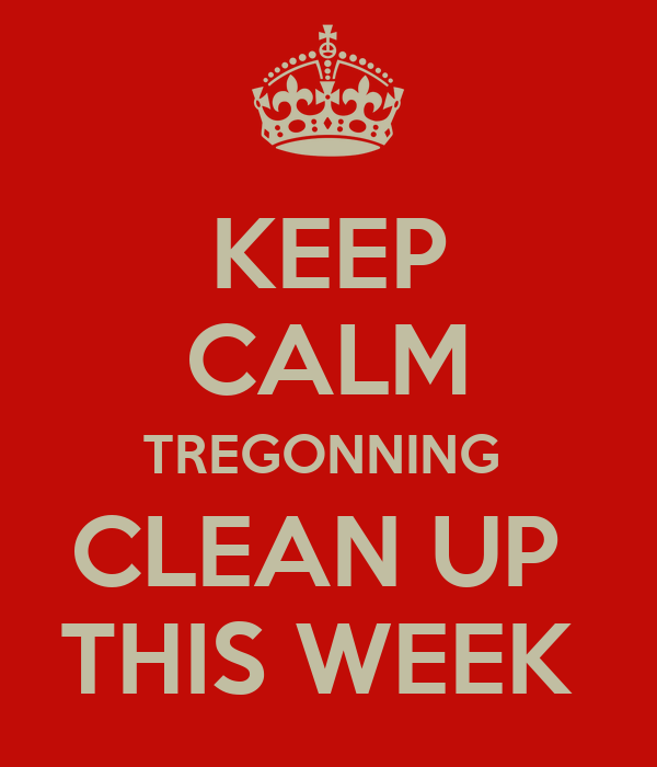 KEEP CALM TREGONNING  CLEAN UP  THIS WEEK