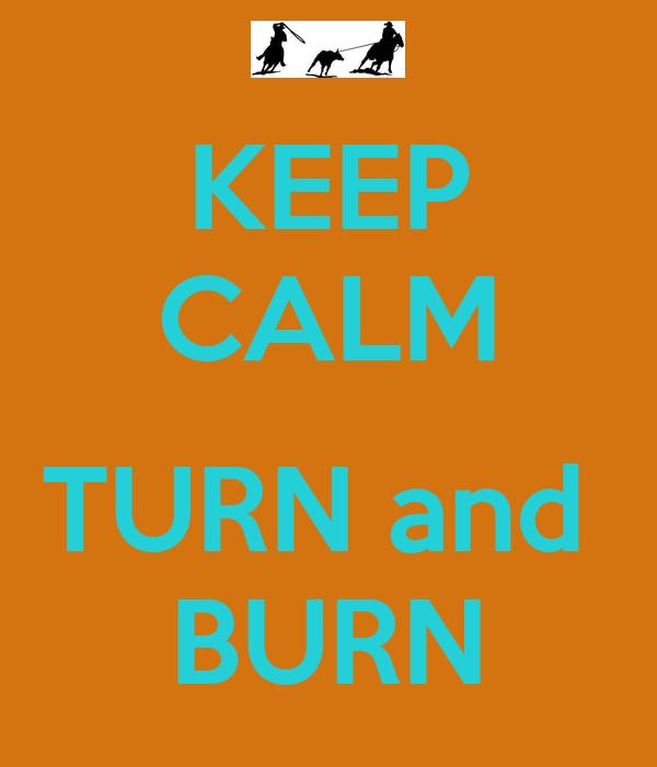KEEP CALM  TURN and  BURN