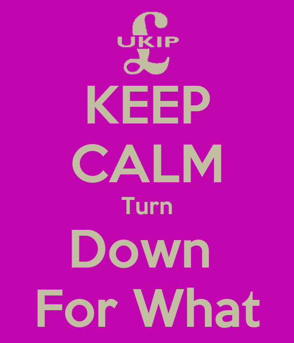 KEEP CALM Turn Down  For What