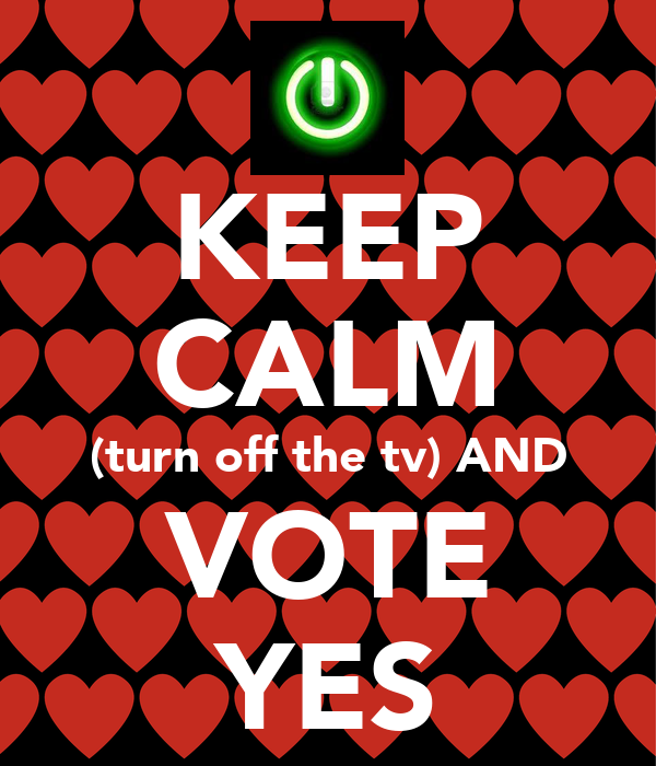 KEEP CALM (turn off the tv) AND VOTE YES