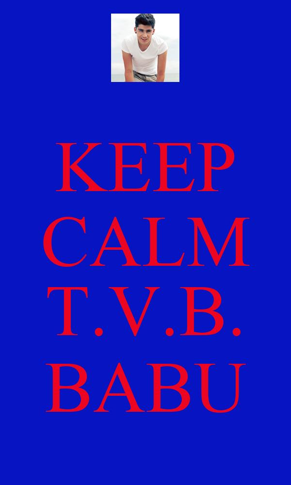 KEEP CALM  T.V.B. BABU