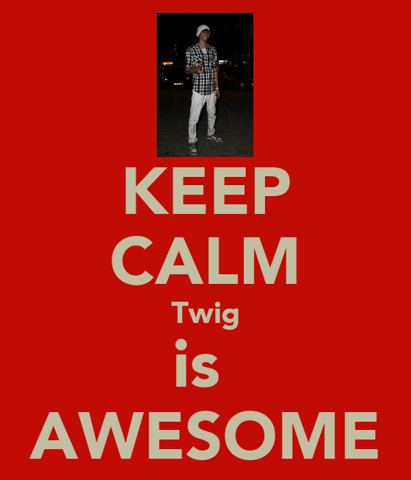 KEEP CALM Twig is  AWESOME
