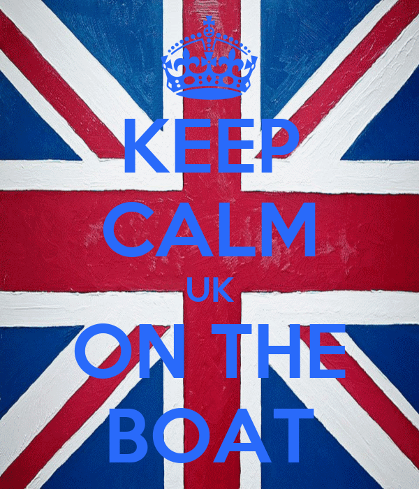 KEEP CALM UK ON THE BOAT