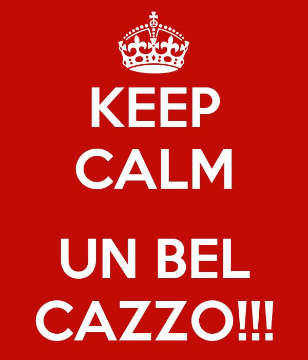 KEEP CALM  UN BEL CAZZO!!!