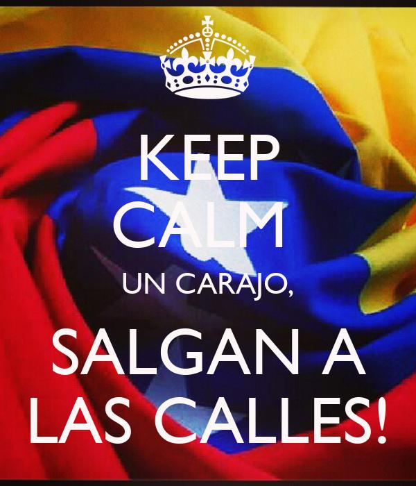 KEEP CALM  UN CARAJO, SALGAN A LAS CALLES!