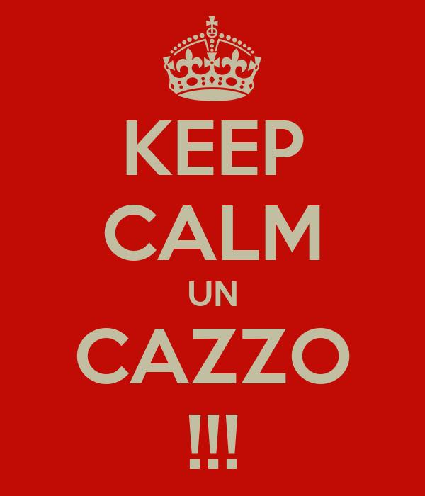 KEEP CALM UN CAZZO !!!