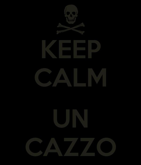 KEEP CALM  UN CAZZO