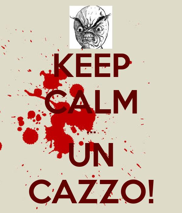 KEEP CALM ... UN CAZZO!