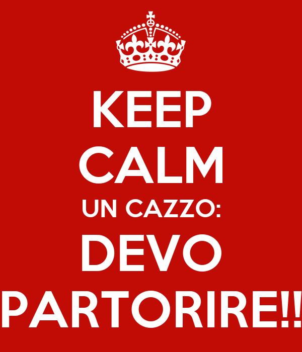 KEEP CALM UN CAZZO: DEVO PARTORIRE!!