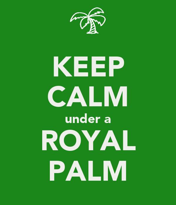 KEEP CALM under a ROYAL PALM