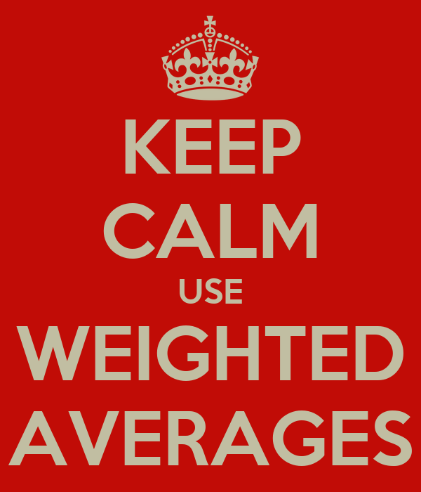 KEEP CALM USE WEIGHTED AVERAGES