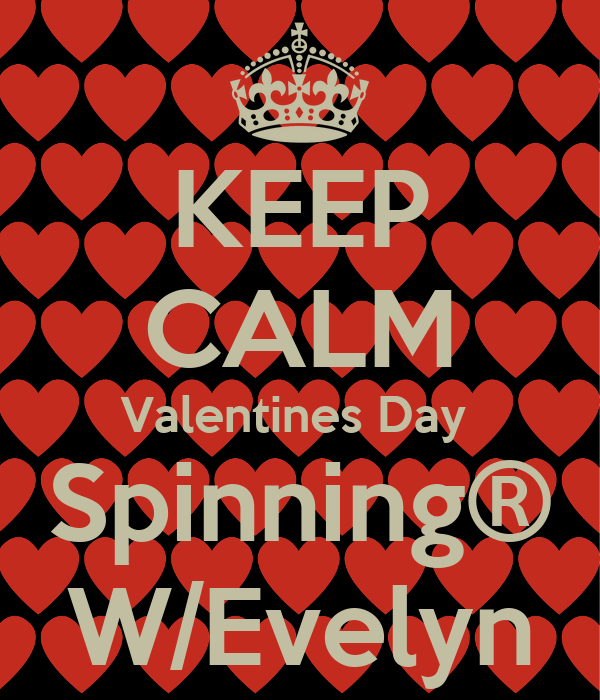 KEEP CALM Valentines Day  Spinning® W/Evelyn