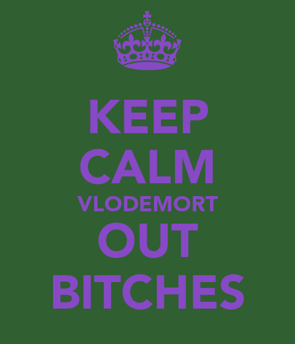 KEEP CALM VLODEMORT OUT BITCHES
