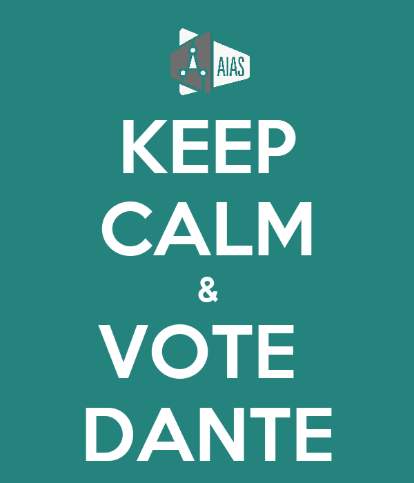 KEEP CALM & VOTE  DANTE